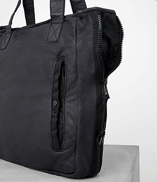 Mens Shoto Leather Tote (WASHED INK/ BLACK) - product_image_alt_text_2