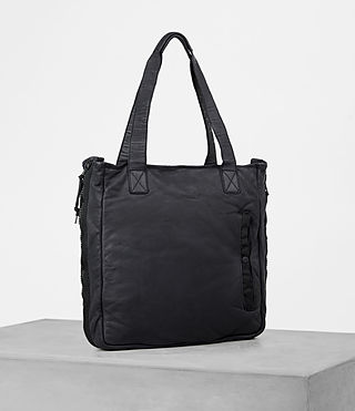 Mens Shoto Leather Tote (WASHED INK/ BLACK) - product_image_alt_text_3