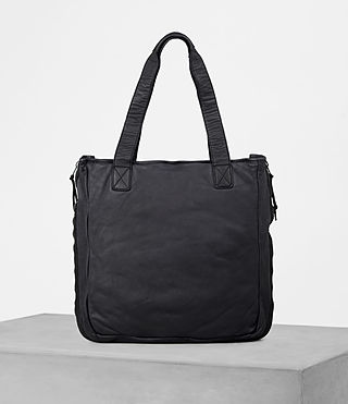 Mens Shoto Leather Tote (WASHED INK/ BLACK) - product_image_alt_text_4
