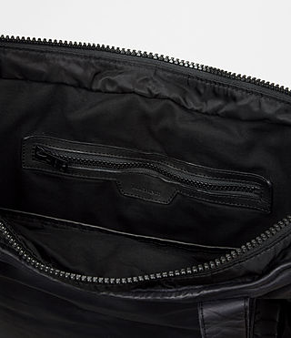Mens Shoto Leather Tote (WASHED INK/ BLACK) - product_image_alt_text_5
