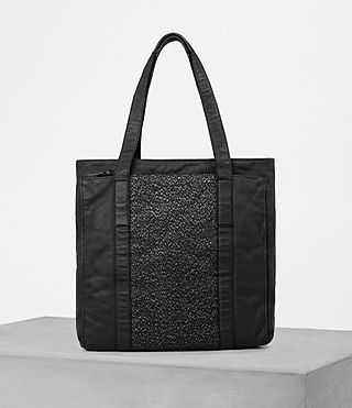 Mens Hoshi Leather Tote (Washed Black)