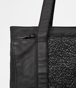 Mens Hoshi Leather Tote (Washed Black) - product_image_alt_text_2