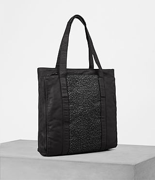 Mens Hoshi Leather Tote (Washed Black) - product_image_alt_text_3