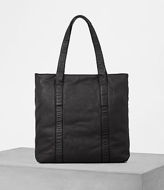 Mens Hoshi Leather Tote (Washed Black) - product_image_alt_text_4
