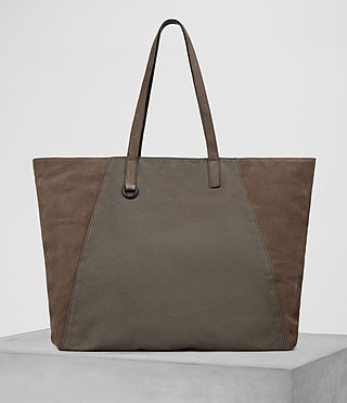 Mens Aichi Tote Bag (Washed Taupe) - product_image_alt_text_1