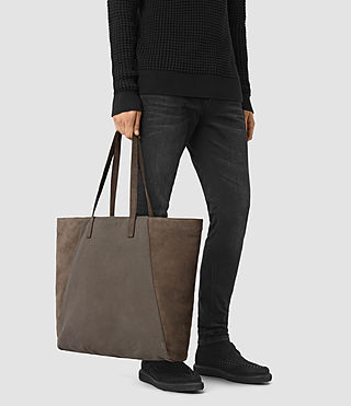 Mens Aichi Tote Bag (Washed Taupe) - product_image_alt_text_2