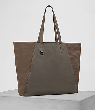 Mens Aichi Tote Bag (Washed Taupe) - product_image_alt_text_4