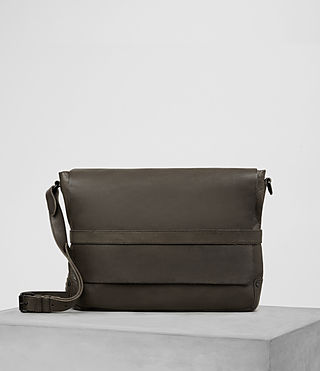 Hommes Storm Leather Messenger Bag (Washed Bitter)