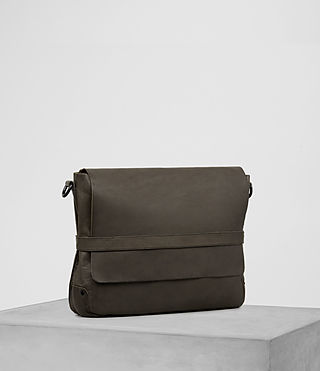 Hombres Storm Leather Messenger Bag (Washed Bitter) - product_image_alt_text_3