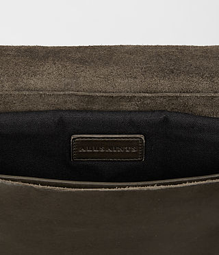 Hombres Storm Leather Messenger Bag (Washed Bitter) - product_image_alt_text_4