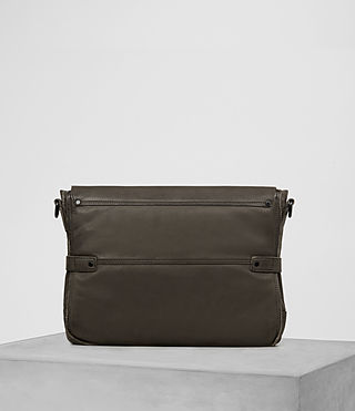 Hombres Storm Leather Messenger Bag (Washed Bitter) - product_image_alt_text_5