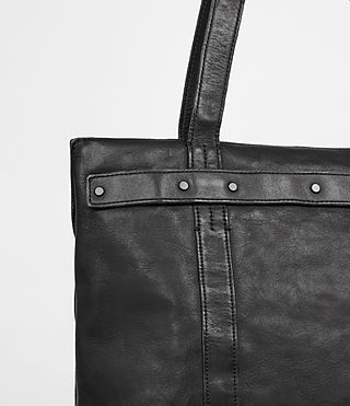 Hommes Storm Leather Tote (Washed Black) - product_image_alt_text_2