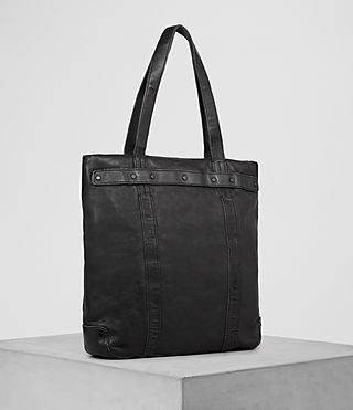 Hommes Storm Leather Tote (Washed Black) - product_image_alt_text_3