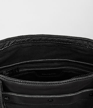 Hommes Storm Leather Tote (Washed Black) - product_image_alt_text_4