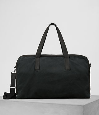 Mens Aichi Leather Holdall (Washed ink)