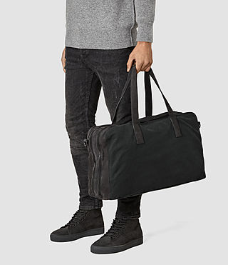 Men's Aichi Leather Holdall (Washed Ink) - product_image_alt_text_2
