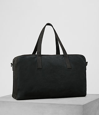 Men's Aichi Leather Holdall (Washed Ink) - product_image_alt_text_4