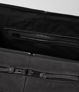 Men's Aichi Leather Holdall (Washed Ink) - product_image_alt_text_5