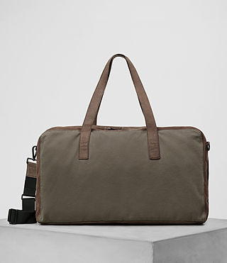 Herren Aichi Leather Holdall (Washed Taupe) -