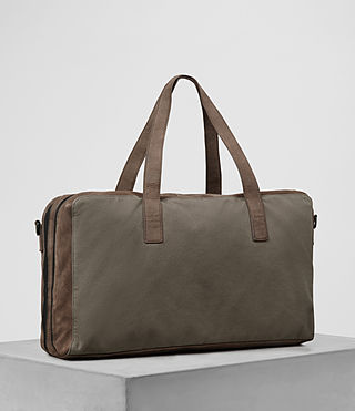 Herren Aichi Leather Holdall (Washed Taupe) - product_image_alt_text_4