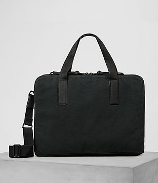 Mens Aichi Leather Work Bag (Washed ink)