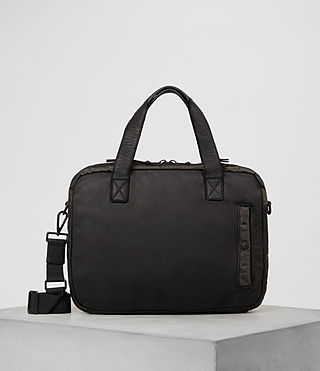 Hommes Shoto Work Bag (Washed Black/Khaki)