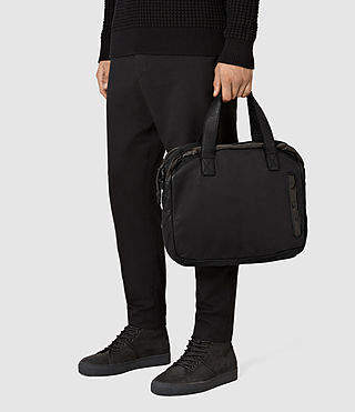 Uomo Shoto Work Bag (Washed Black/Khaki) - product_image_alt_text_2