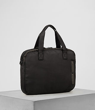 Uomo Shoto Work Bag (Washed Black/Khaki) - product_image_alt_text_3