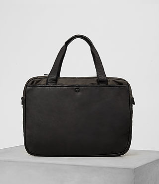 Mens Shoto Work Bag (Washed Black/Khaki) - product_image_alt_text_5