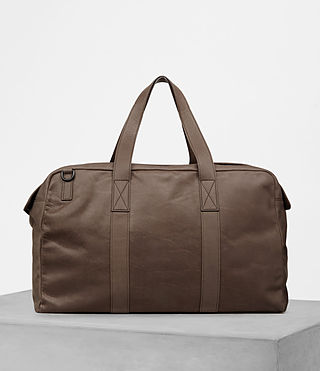 Mens Kanji Holdall (Taupe) - product_image_alt_text_1