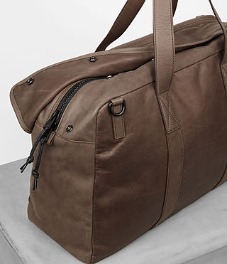 Mens Kanji Holdall (Taupe) - product_image_alt_text_2