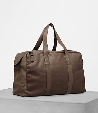 Mens Kanji Holdall (Taupe) - product_image_alt_text_3