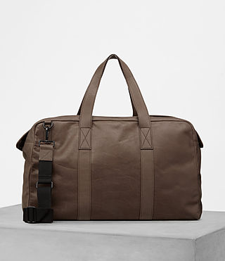Mens Kanji Holdall (Taupe) - product_image_alt_text_4