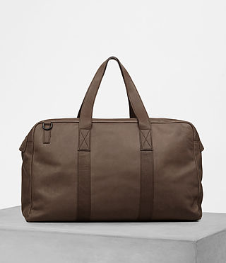 Mens Kanji Holdall (Taupe) - product_image_alt_text_5