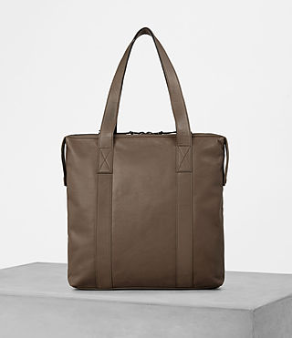 Mens Kanji Tote Bag (Taupe) - product_image_alt_text_1