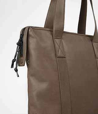 Mens Kanji Tote Bag (Taupe) - product_image_alt_text_2