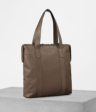 Mens Kanji Tote Bag (Taupe) - product_image_alt_text_3