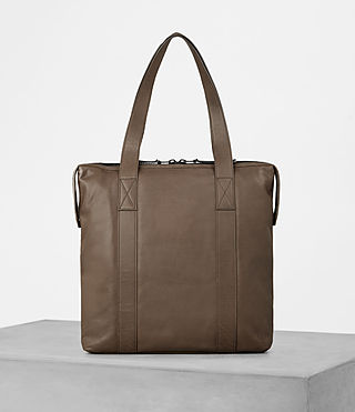 Mens Kanji Tote Bag (Taupe) - product_image_alt_text_4