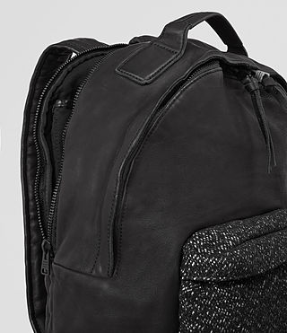 Mens Hoshi Leather Rucksack (Washed Black) - product_image_alt_text_2