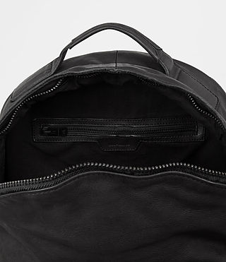 Mens Hoshi Leather Rucksack (Washed Black) - product_image_alt_text_5