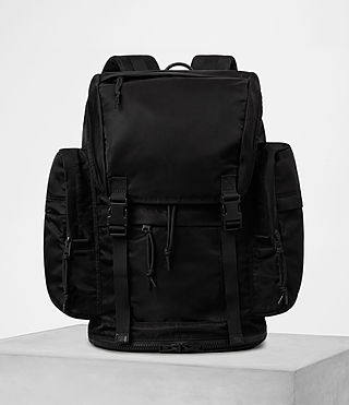 Mens Nakano Rucksack (Washed Black) - product_image_alt_text_1