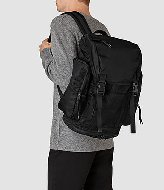 Mens Nakano Rucksack (Washed Black) - product_image_alt_text_2