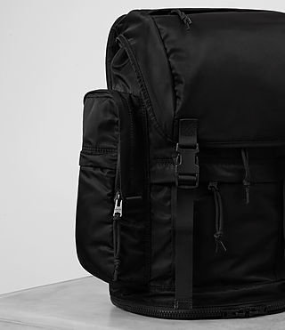 Hombres Nakano Rucksack (Washed Black) - product_image_alt_text_3