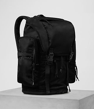 Mens Nakano Rucksack (Washed Black) - product_image_alt_text_4