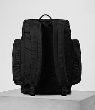 Mens Nakano Rucksack (Washed Black) - product_image_alt_text_6