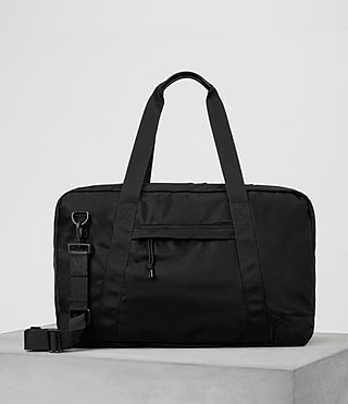 Hombre Nakano Holdall Bag (Washed Black)