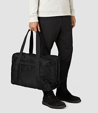 Hombre Nakano Holdall Bag (Washed Black) - product_image_alt_text_2