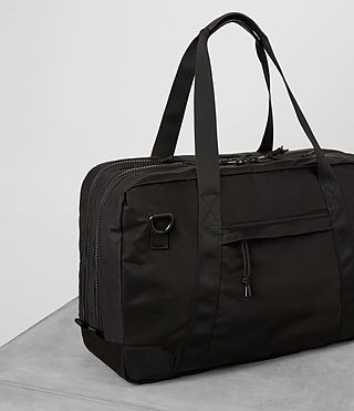 Hombre Nakano Holdall Bag (Washed Black) - product_image_alt_text_3