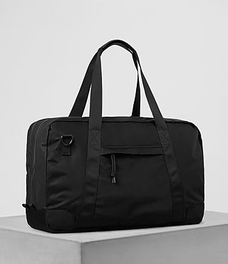 Hombre Nakano Holdall Bag (Washed Black) - product_image_alt_text_4