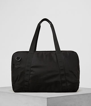 Hombre Nakano Holdall Bag (Washed Black) - product_image_alt_text_6